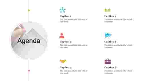 A twelve noded agenda powerpoint slide template