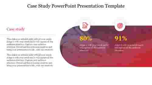 A four noded case study powerpoint presentation template