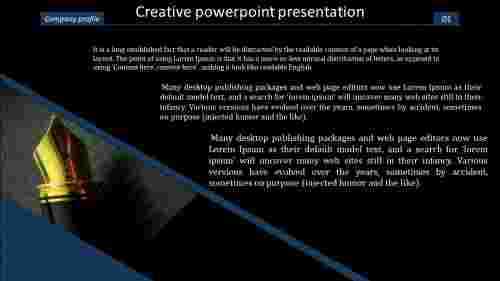 A three noded creative powerpoint presentation