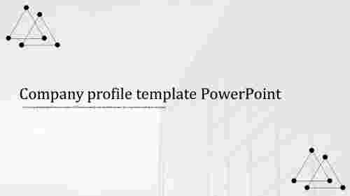 A one noded company profile template powerpoint