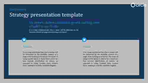 A three noded strategy presentation template