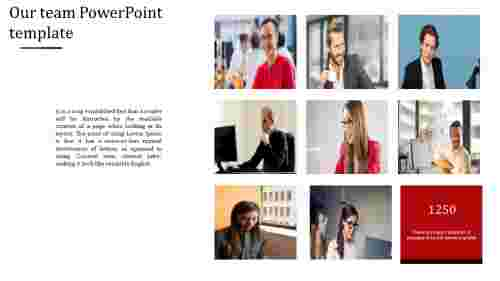 Best our team powerpoint template