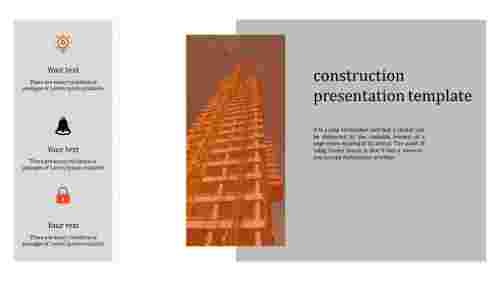 Simple cool construction presentation template