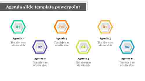 Excellent agenda slide template powerpoint