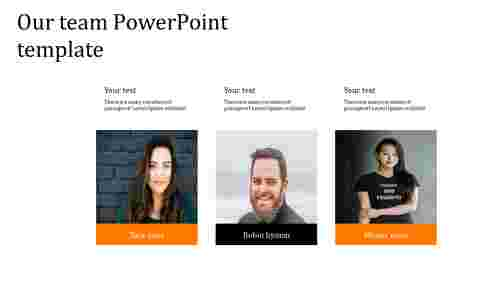 Best simple our team powerpoint template