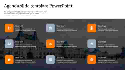 Incredible agenda slide template powerpoint