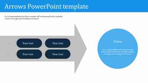 Best arrows powerpoint template