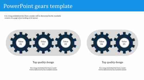 Best powerpoint gears template