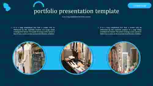 Creative simple portfolio presentation template