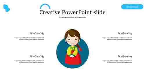Simple creative powerpoint slide