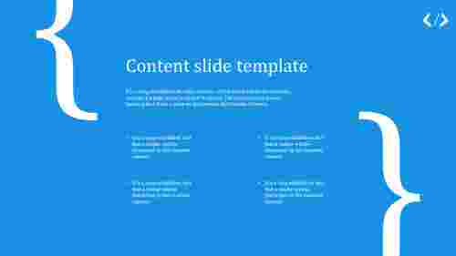 simple content slide template for business
