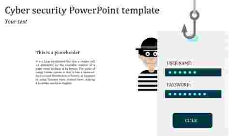 Simple cool cyber security powerpoint template