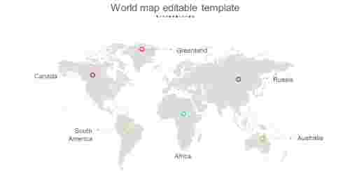Best simple world map editable template