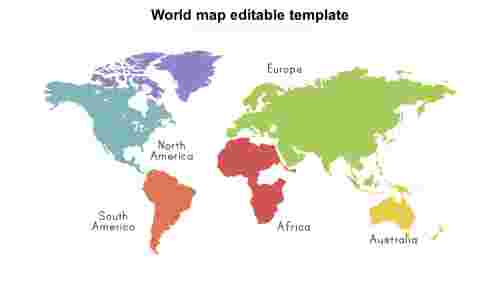 World map editable template Design