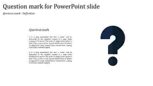 SimpleQuestionmarkforPowerPointslide