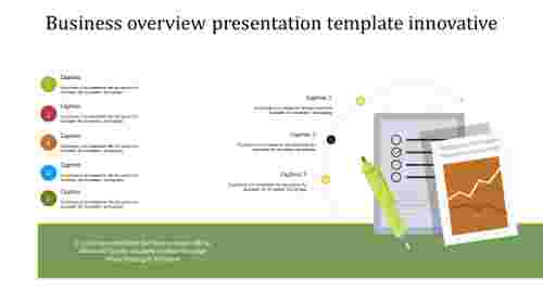 business overview presentation template innovative