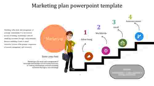 Best simple marketing plan powerpoint template