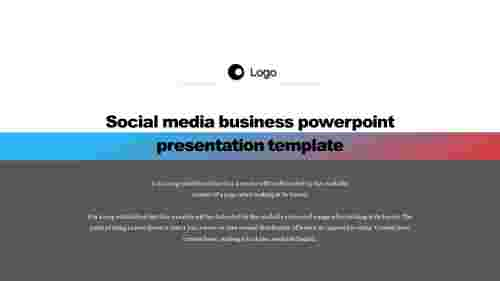 Simple social media business powerpoint presentation template