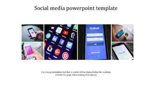 social media powerpoint template with images