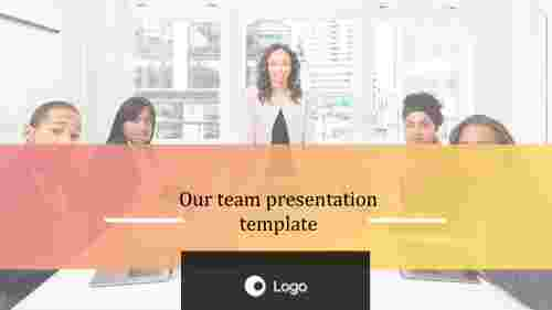 Animated our team presentation template