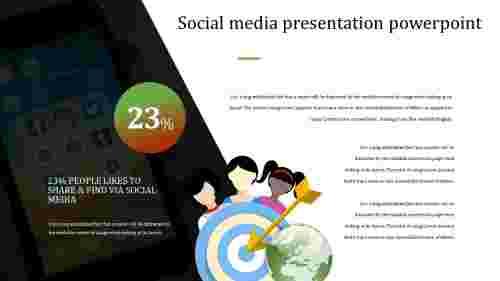 Incredible simple social media presentation powerpoint