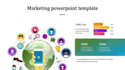 World marketing powerpoint template