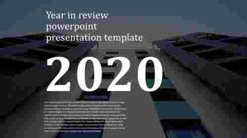 Best year in review powerpoint presentation template