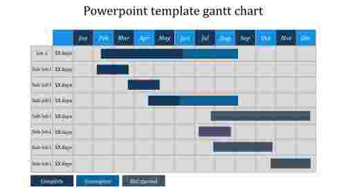 Simple powerpoint template gantt chart