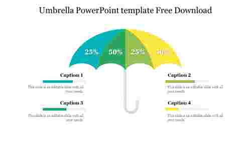 Umbrella PowerPoint template Free Download
