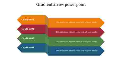 Gradient arrow PowerPoint