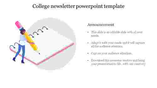 college newsletter powerpoint template