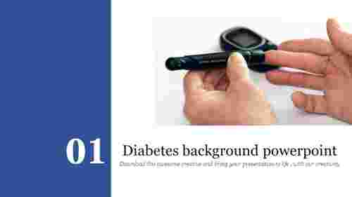 Diabetes background powerpoint