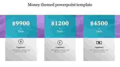 Money themed powerpoint template