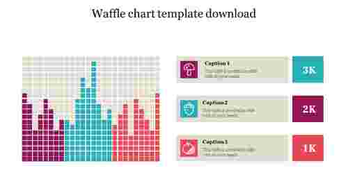 Waffle chart template free download