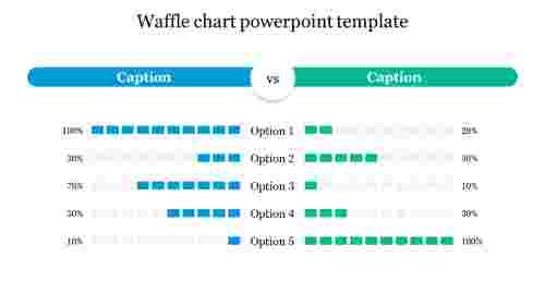 Waffle chart powerpoint template free