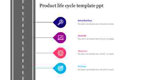Product life cycle template ppt
