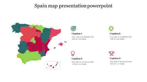 Spain map presentation powerpoint
