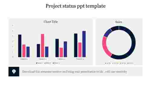 Best%20Project%20status%20ppt%20template%20with%20chart