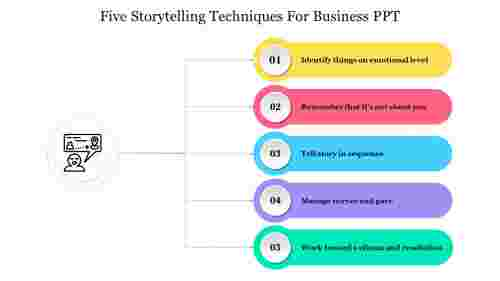 Nice%20Five%20Storytelling%20Techniques%20For%20Business%20PPT