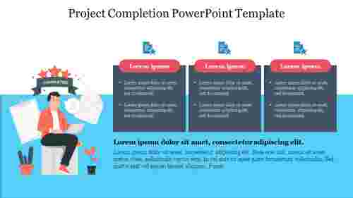 Three%20Node%20Project%20Completion%20PowerPoint%20Template