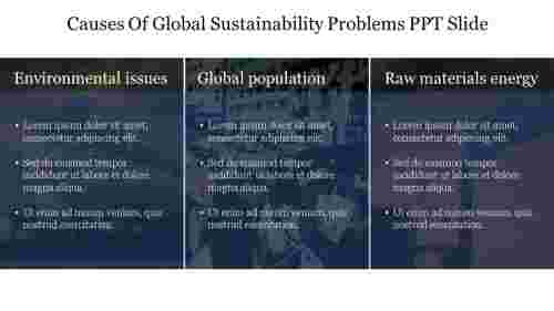Best%20Causes%20Of%20Global%20Sustainability%20Problems%20PPT%20Slide