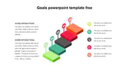 Steps Goals PowerPoint template free
