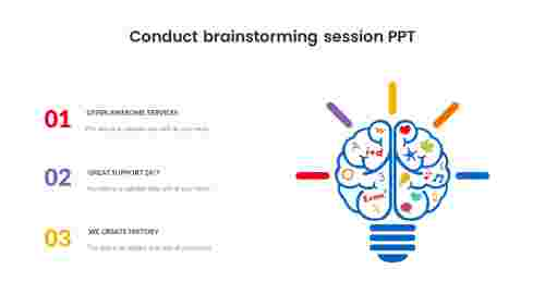 conduct brainstorming session ppt
