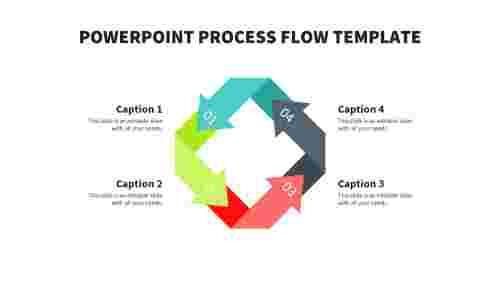 Arrow powerpoint process flow template