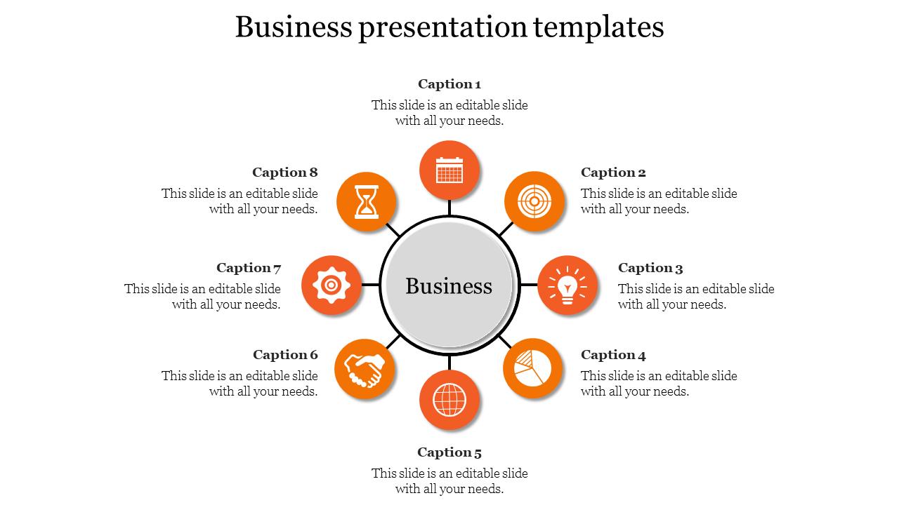 Business Presentation Templates Process Model