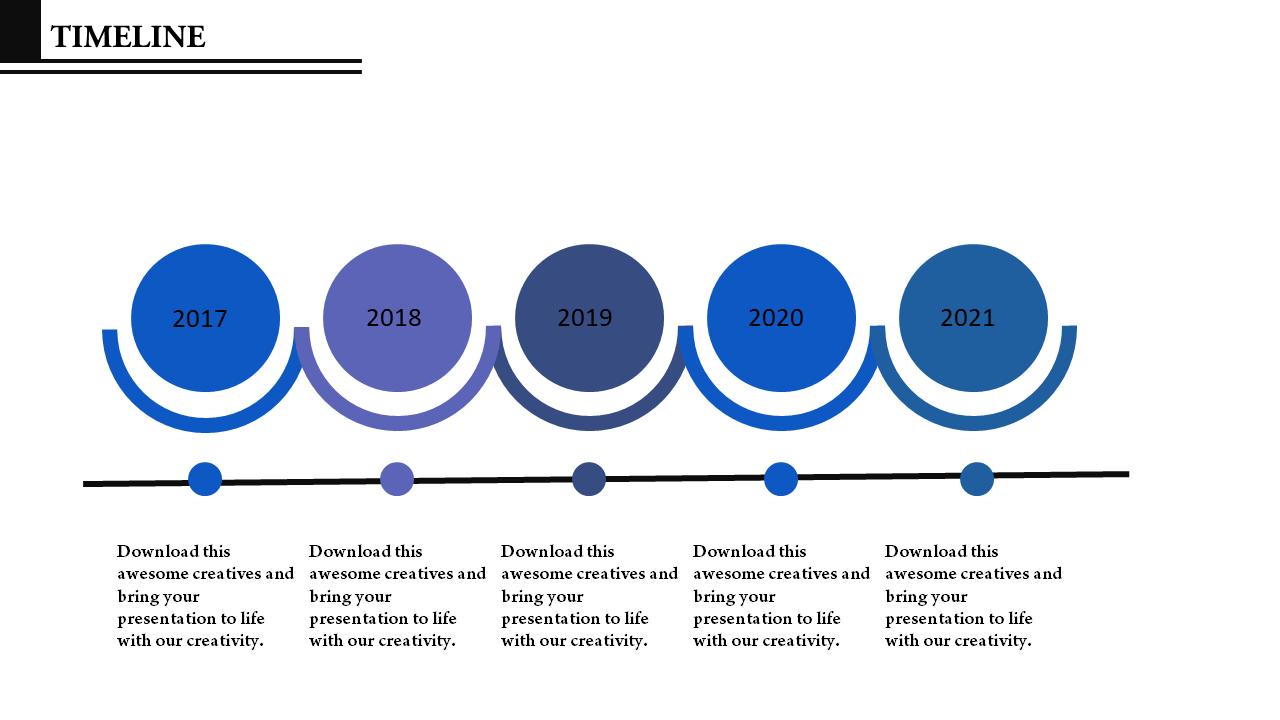Free - Efficient Timeline Powerpoint Design