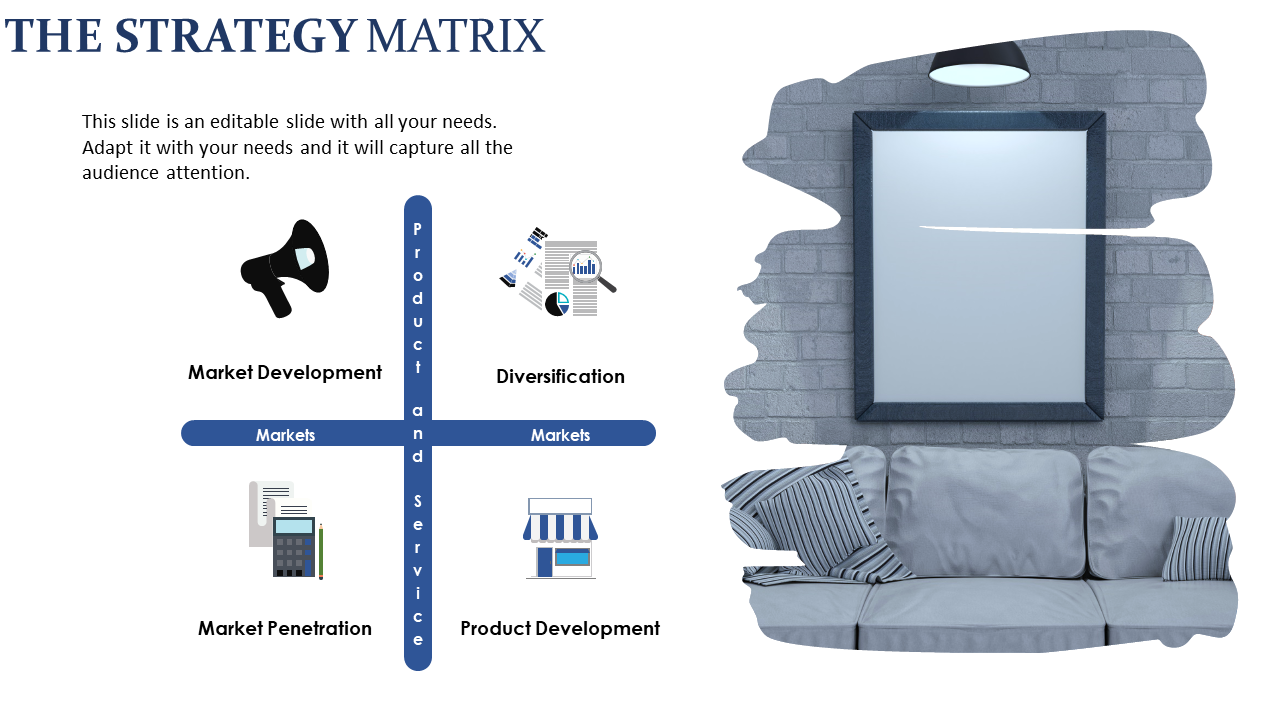 Free - Marketing Strategy Presentation-Furniture Diagram