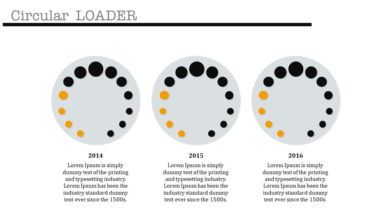 Free - Round Model Powerpoint Timeline