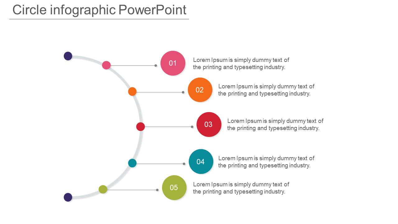 Spokes Arrangements Of Circle Infographic Powerpoint