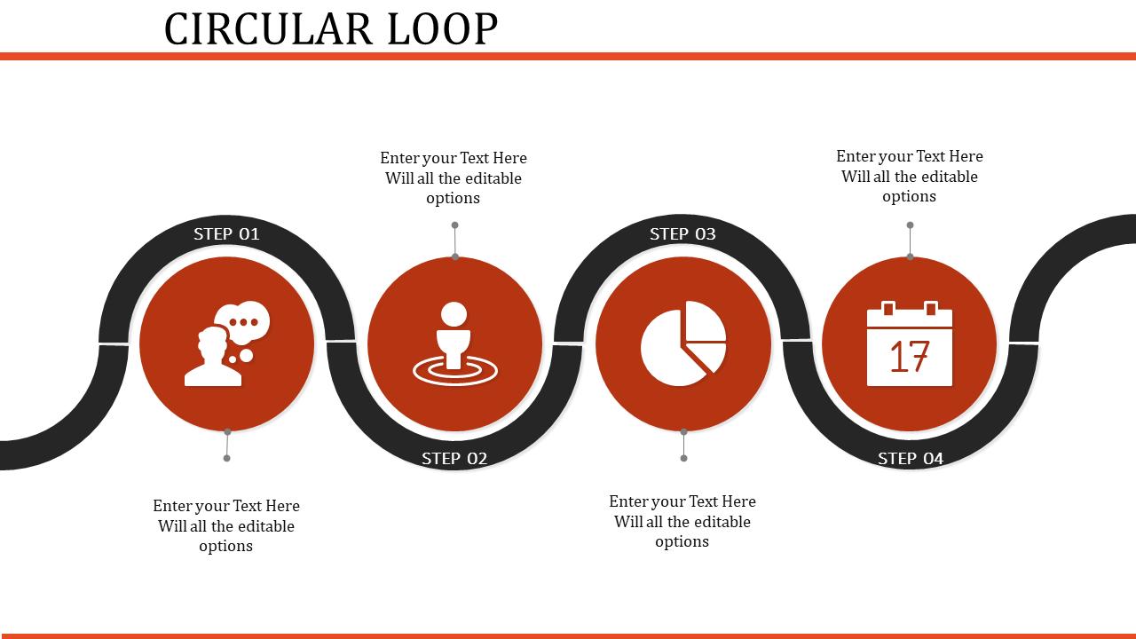 Circular Organizational Chart Template For Looping Process
